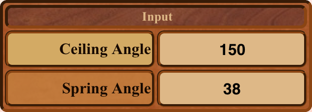 Ceiling Angle Inputs